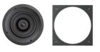 In-Ceiling Speaker, 11-5/8 in. Dia x 3-3/4 in. D, 125W, 90dB at 1m, 42 Hz to 20 kHz