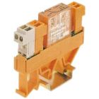 Relay Module, 24VDC Operating, 6A, (1) C.O., DIN Rail Mounting, 8ms On Delay