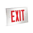Exit Sign, 120-347 VAC, 6-48VDC, Double Face, LED