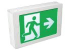 Exit Sign, 120-347VAC, Single/Double Face, Universal Mounting, LED Lamp, Thermoplastic