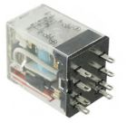 Miniature General Purpose Relay, 24VDC Coil, Solder Terminal, 250VAC, 125VDC, 10A, DPDT 2CO