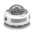 Photo Smoke Alarm with Integrated Strobe, 120VAC, 0.04/1A, 40-100 deg F, White