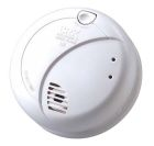 Wire-In Smoke Alarm, 120VAC, 85dB Horn, LED Power-On/Alarm Indicator, Photoelectric