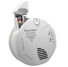 Smoke and Carbon Monoxide Alarm, 120V with Battery Backup, 18 Interconnect Stations, Wire-in