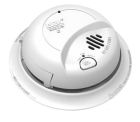 Smoke and Carbon Monoxide Alarm, 120V with 9V Battery Backup, 18 Interconnect Stations, Wire-in