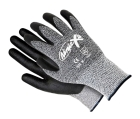 Cut Resistant Gloves, Size 8, Black Palm, Unlined Lining, Bi-Polymer Palm