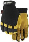 Gloves, Leather, X-Large, Elastic Wrist Cuff