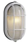Outdoor Wall Lantern, Compact Fluorescent Lamp, 13W, Cast Aluminum Housing, White