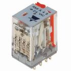 General Purpose Relay, 240VAC Coil, Solder Terminal, 250VAC, 10A, DPDT, AgCd Contacts