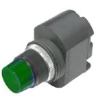 Panel Indicator, 16.0mm, 120VAC/130VDC, LED, Green, Screw Terminals
