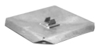 Plate Anchor, Square 16-1/4 x 16-1/4 Gray or Black Anchor, Hot Dip Galvanized, 1 Anchor