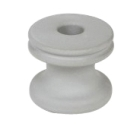 Spool Insulator, 5/8 in. Hole, Porcelain, Wet Process, 3-1/8 in. Dia x 3 in. L