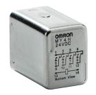 Miniature General Purpose Relay without Indicator, 110VAC Coil, Screw Terminal, 3A, 4PDT