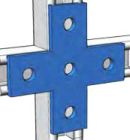Channel Cross Plate Hot-Dip Galvanized