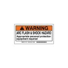 Safety Warning Label Polyester Warning - Arc Flash Hazard - Appropriate Personnel Protection Equipment Required
