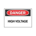 Safety Warning Sign Self-Adhesive Polyester Danger - High Voltage