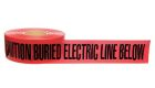 Underground Warning Tape, 3 in. W x 1000 ft L, CAUTION: BURIED ELECTRIC LINE BELOW