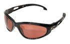 Safety Glasses, Polycarbonate Copper Mirror Anti Scratch Lens, Black Nylon Frame