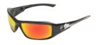 Safety Glasses, Polycarbonate Aqua Precision Red Mirror Anti Scratch Lens, Black