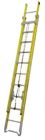 Extension Ladder, 28 ft L Total, 25 ft L Working, Ty-1AA, 375 lb, Fiberglass, Yellow, Round Rung