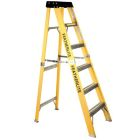 Extra-Heavy Duty Stepladder, 8-ft H, 24 x 54 in., Extra-Heavy-Duty, Fiberglass, Yellow