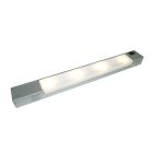 Undercabinet LED Fixture with Intergrated Dimmable Driver, LED, 6.5W, 12V, Steel