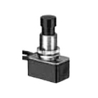 Non-Lighted Pushbutton Switch Black Plastic SPST 250Vac