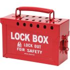 Lockout Box Red Steel